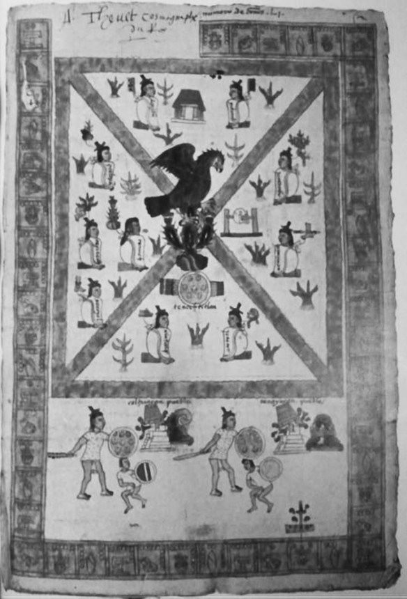 Figure 4: Tenochtitlan at the Center, from the Codex Mendoza
