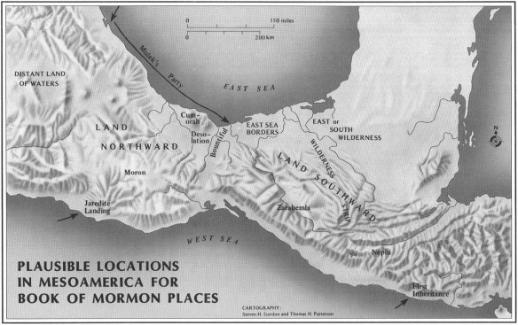 Figure 1: John L. Sorenson's correlation, from An Ancient American Setting for the Book of Mormon