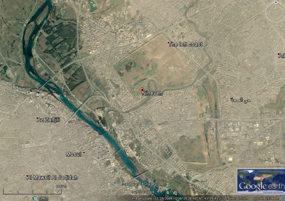 The Ancient Assyrian Capital City of Nineveh (Jonah 3) http://scriptures.byu.edu/mapscrip/#jonah/3