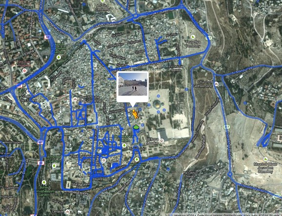 Virtual Walking Tour of Old City Jerusalem in Google Maps http://goo.gl/maps/h1Njj