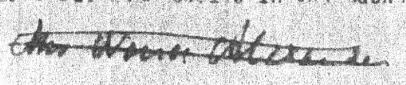 "Figure 4: Signature at the bottom of the typed sheet ostensibly quoting Polly Beswick. Hales's research supports the case for it reading ""Mrs Nancy Alexander,"" but whether it is her actual signature is unknown."