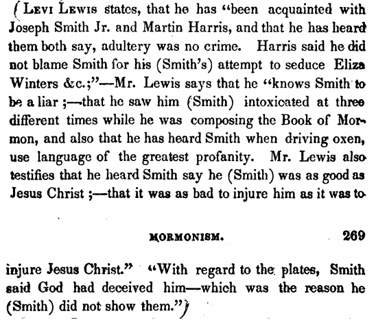 Figure 1: Levi Lewis affidavit citation in