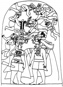 Figure 1: Stela 3 at LaVenta, Tabasco, Mexico (drawing by D. Wirth)