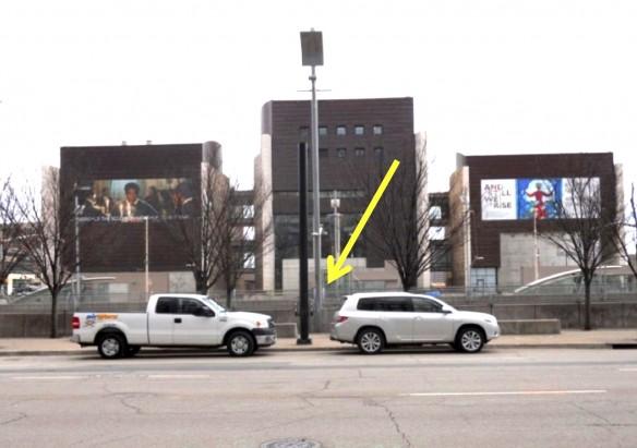 Figure 11: Looking south across Third Street between Walnut and Vine, Cincinnati, Ohio, March 2014.