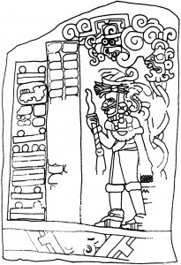 Figure 3: Stela 1 at El Baúl, Cotzumalhuapa region, Guatemala (drawing by D. Wirth)