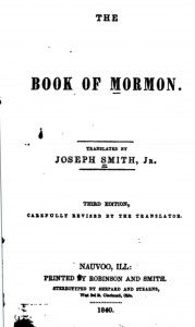 Figure 4: Title Page, Book of Mormon, Third Edition, 1840.