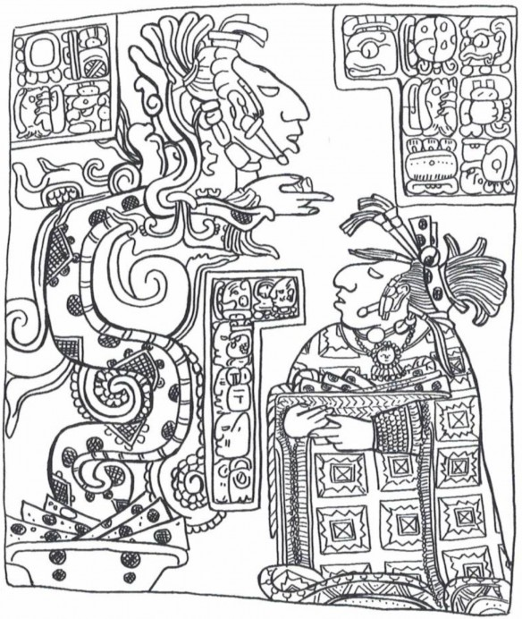 Figure 5: Lintel 15 at Yaxchilan, Chiapas, Mexico (drawing by D. Wirth)