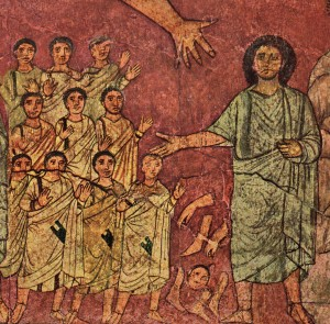 Figure 4. The Exaltation of Resurrected Israel, Dura Europos Synagogue, ca. 250. (Image courtesy of Yale University Press)