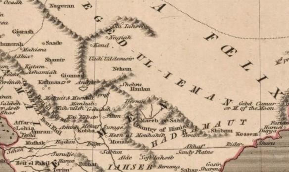 Nehem region detail on the Kirkwood map.