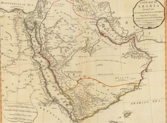 The 1794 D'Anville map of Arabia.