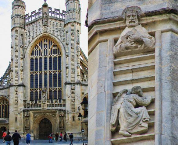 Figure 3. Stephen T. Whitlock, 1951–: Jacob's Ladder, Bath Abbey, 9October2004.120