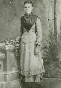 Figure 8. Dell Hinckley at the age of 16, about the time she attended the Logan Temple dedication in 1884.