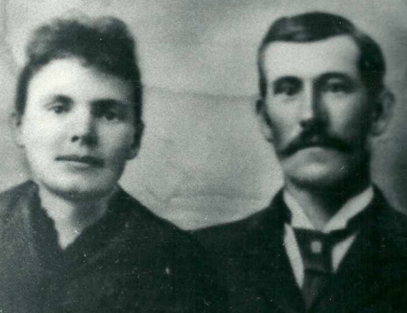 Figure 9. Dell Paul and John Robert Paul about the time of their marriage in 1886.