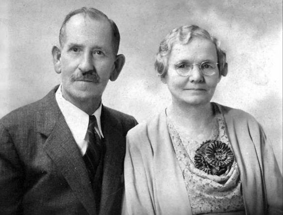 Figure 11. Jack and Dell Paul, probably in 1926 at the time of their Golden Wedding Anniversary
