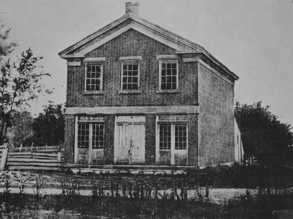 Figure 3. Joseph Smith's Red Brick Store, photograph attributed to Elder Brigham H. Roberts, ca. 188647
