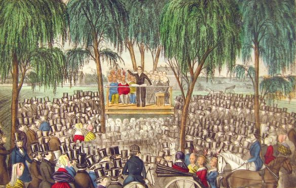 Figure 5. George Lloyd, 1817-??: Joseph Smith Preaches from the Stand at General Conference, April 6, 184481