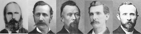Figure 1. Those known to have been present at the recording of Harris' verbal statement: Dennison Lott Harris (1825–1885)19; Joseph F. Smith (1838–1918)20; Carl Christian Nikolai Dorius (1830–1894)21; Franklin Spencer (1836–1915)22; George F. Gibbs (1846–1924)23