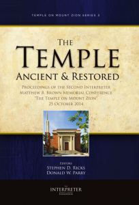 The Temple: Ancient and Restored
