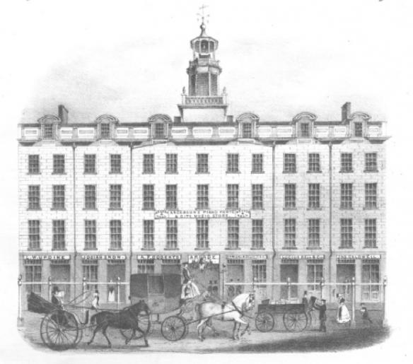 Figure 2. Reynolds Arcade, from an 1844 sheet music publication.15