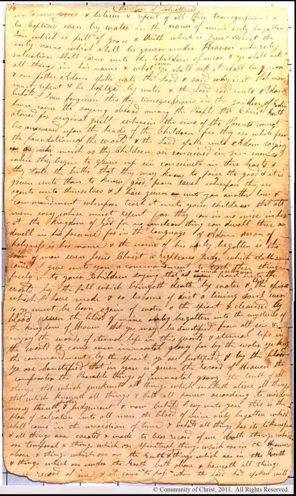 Figure 12. jst ot1 Manuscript of Moses 6:58b–64a, p. 2.