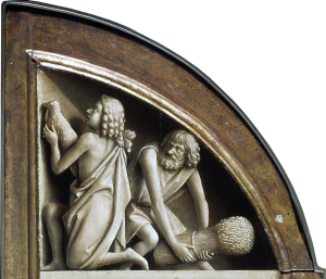 Figure 26. Jan van Eyck (ca. 1395–1441): The Offering of Abel and Cain, 1425–1429