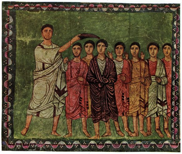 Figure 41. Samuel Anoints David. Dura Europos Synagogue, ca. ad 254.